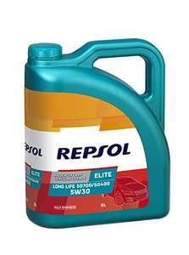 Huile moteur Repsol Elite Long Life 5W30 (Essence et Diesel, FAP et non FAP) - 5L