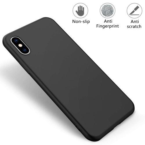 Coque souple en silicone noir mat pour iPhone X / iPhone XS (vendeur tiers)