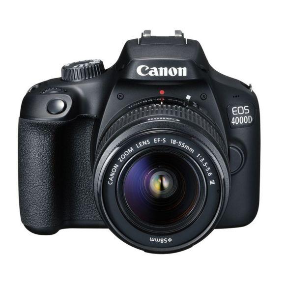 Appareil Photo Canon EOS 4000D + Objectif EF-S 18-55mm III - Noir (Vendeur tiers)