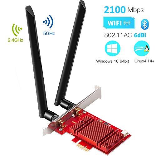 Carte réseau Wi-Fi Hommie - 2.4 / 5 GHz, Bluetooth 5.0 (vendeur tiers)