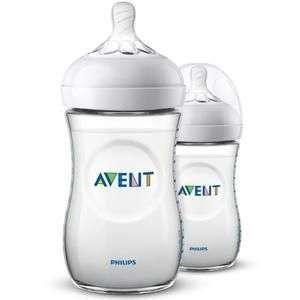 Lot de 2 biberons Philips Avent Natural - 2x260 ml