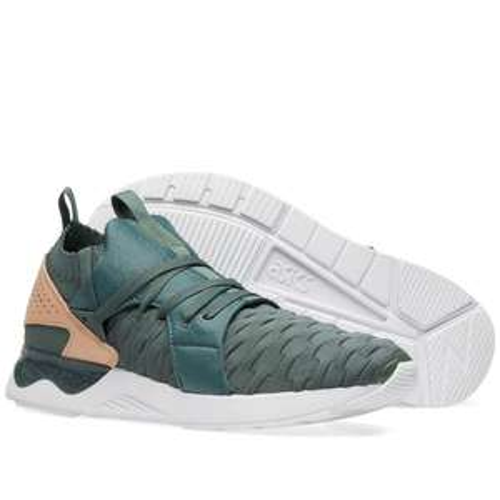 Baskets mixtes Asics Gel-Lyte V Sanze Knit - Vert ou Rose - Ex : Vert (Tailles du 36 au 42,5)