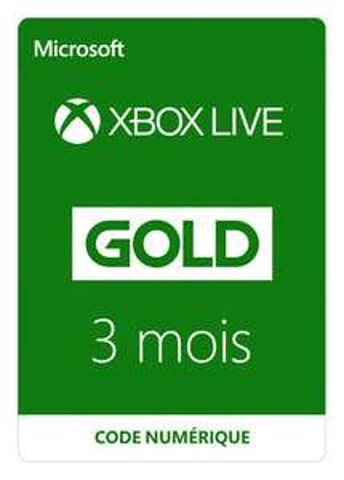 Abonnement de 3 mois au service Xbox Live Gold (Dématérialisé) - Noisy Le Grand (93)