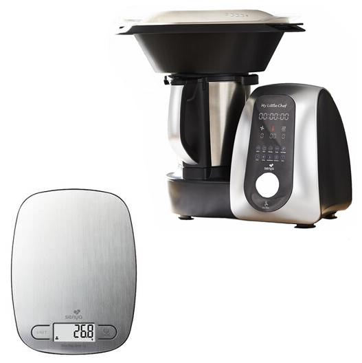 Robot de cuisine multifonction Senya My Little Chef - 1700W, 13 programmes, 10 vitesses, Bol Inox + Balance My Little Scale (Vendeur tiers)