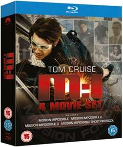 Coffret Blu-Ray Mission Impossible 1 à 4