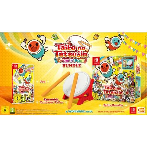 Taiko No Tatsujin + Tatacon : Drum & Fun sur Nintendo Switch (via 50 euros sur la carte)