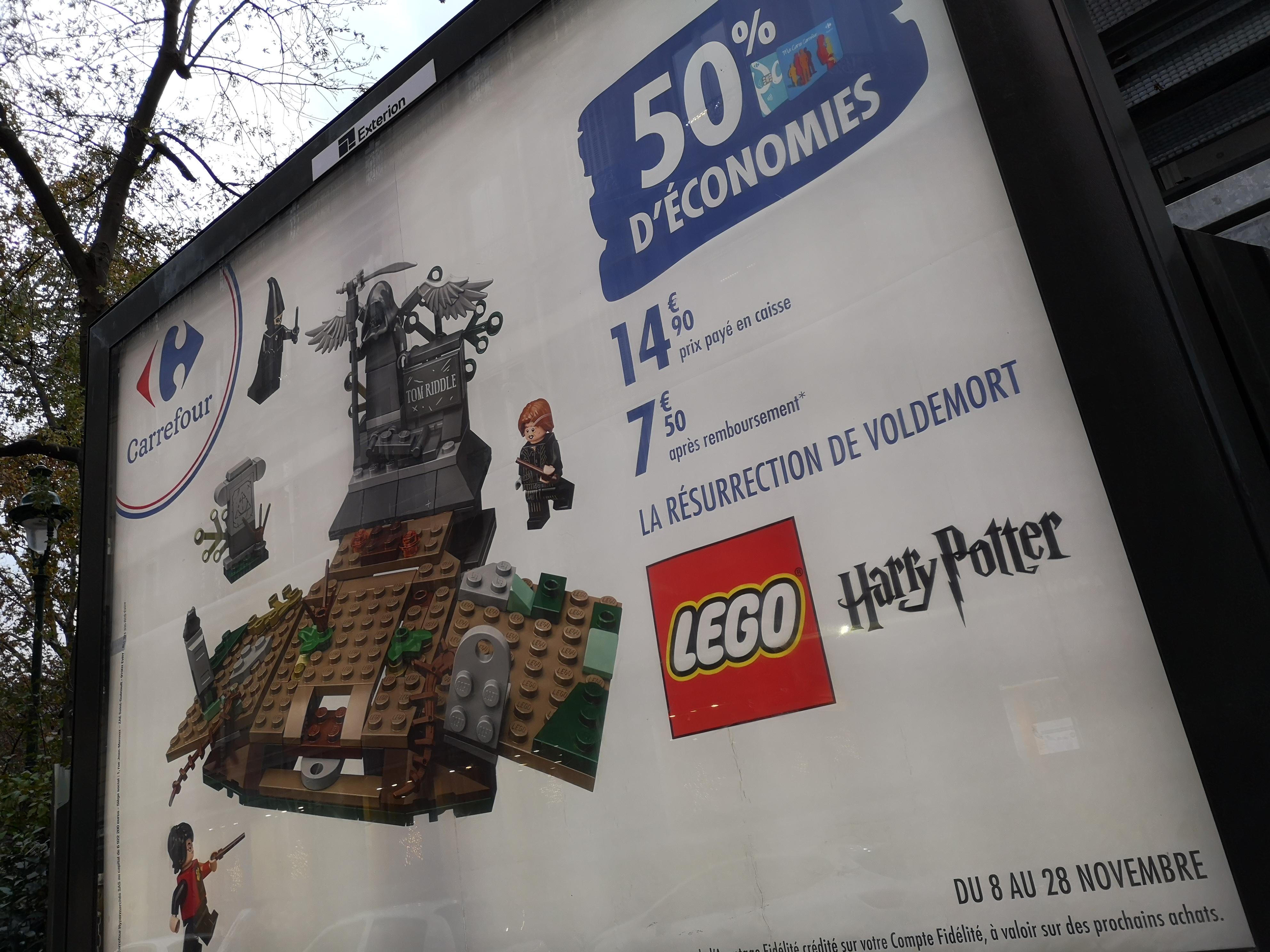Jeu de construction Lego (75965) - La résurrection de Voldemort (via 7€40 sur la carte Carrefour)