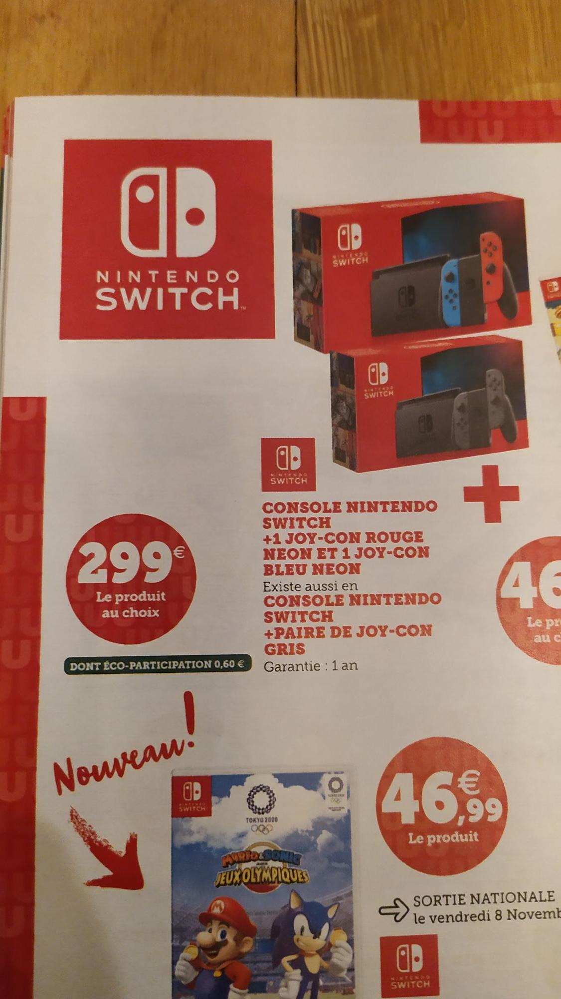 Console Nintendo Switch (via 89.7€ sur la carte) - St Etienne de Montluc (44)