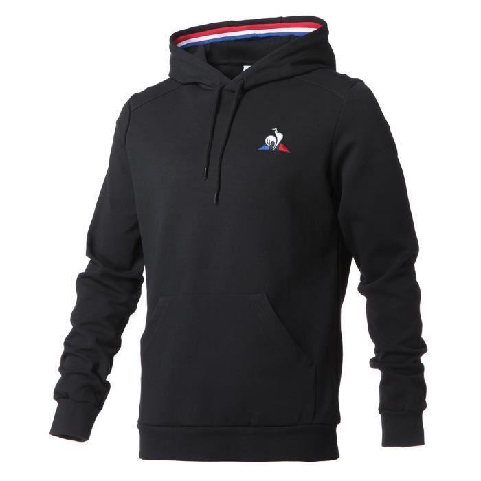 Sweat à capuche Homme Le Coq Sportif TRI Hoody N°1 (Noir) - Tailles M et XS