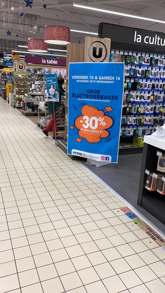 30% offerts en bon d'achat sur l'électroménager - Hyper U La Montagne (44)