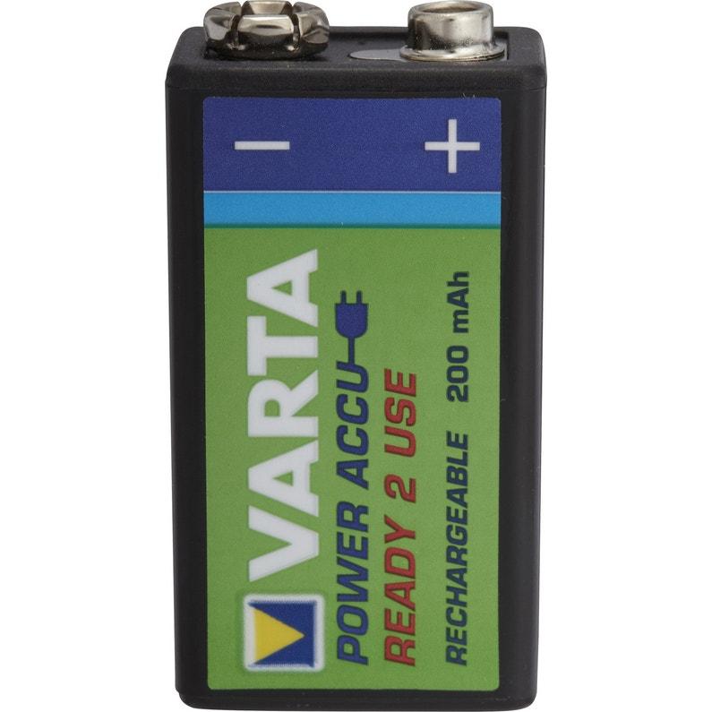 Sélection de produits Varta en promotion - Ex : Pile rechargeable 9 V, 200 mAh (Villeneuve-d'Ascq 59)