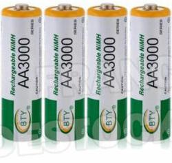 Lot de 4 Piles rechargeables - AA 3000mah
