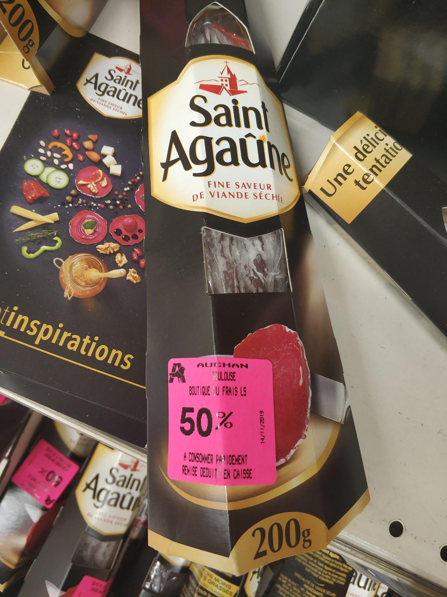 Saucisson Saint Agaûne à consommer rapidement - Toulouse Balma Gramont (31)
