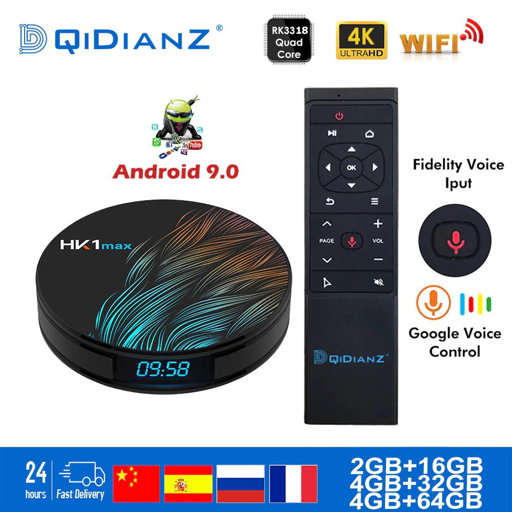 Box TV DQiDianZ HK1MAX - RAM 4Go, 32Go, Android 9.0 (Plug EU)