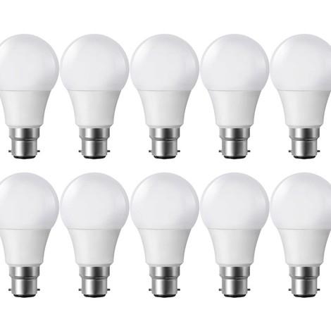 Lot de 10 Ampoules Led à Baïonette - B22, 9W