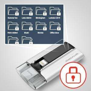 Clé USB 2.0 SanDisk iXpand pour iPhone et iPad (SDIX-064G-G57) - 64 Go
