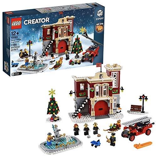 Jeu de Construction Lego Creator Expert - La caserne des pompiers du village d'hiver (10263)