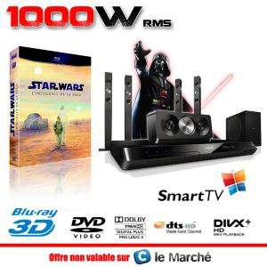Home Cinéma 5.1 enceinte colonne Philips HTS5593 Blu Ray 3D + Intégrale STAR WARS