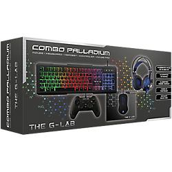 Kit d'accessoires The G-Lab Combo Palladium - casque audio + clavier + manette de jeu + souris + tapis de souris