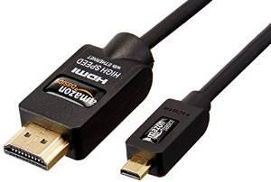 Câble HDMI / microHDMI AmazonBasics - Haute Performance compatible Ethernet 3D et retour audio (2 m)