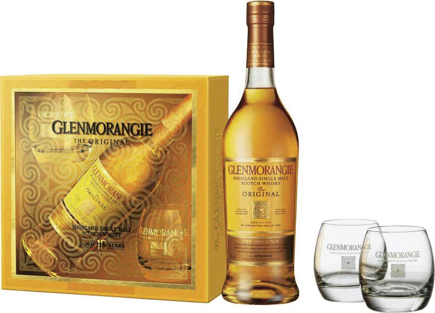 Coffret Whisky Glenmorangie 10 ans + 2 verres