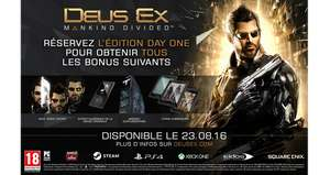 Deus Ex Mankind Divided Edition Steelbook sur PS4