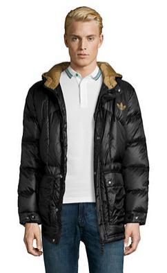Doudoune à capuche Adidas - Noir