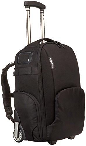 Sac à dos convertible pour appareil photo et accessoires AmazonBasics Athena 100 - avec housse de pluie, poignées et roulettes