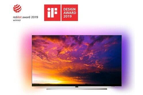 "TV OLED 65"" Philps 65OLED854 - 4K UHD, HDR 10+, Ambilight 3 côtés, Android TV (+45€ en carte cadeau)"