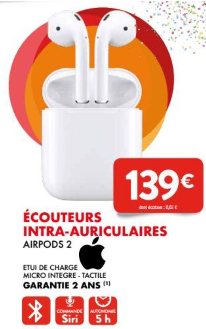 Écouteurs sans fil Apple Airpods 2 - Leclerc La teste (33)
