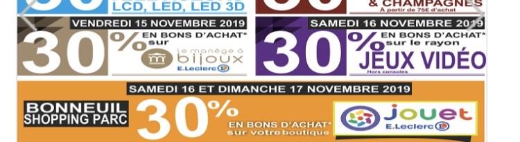 30% offerts en bons d'achat sur les jouets - Leclerc Bonneuil, Vitry-sur-Seine (94)
