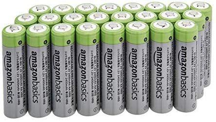 Lot de 24 batteries rechargeables Amazon Basics - AA Ni-MH, 2400mAh
