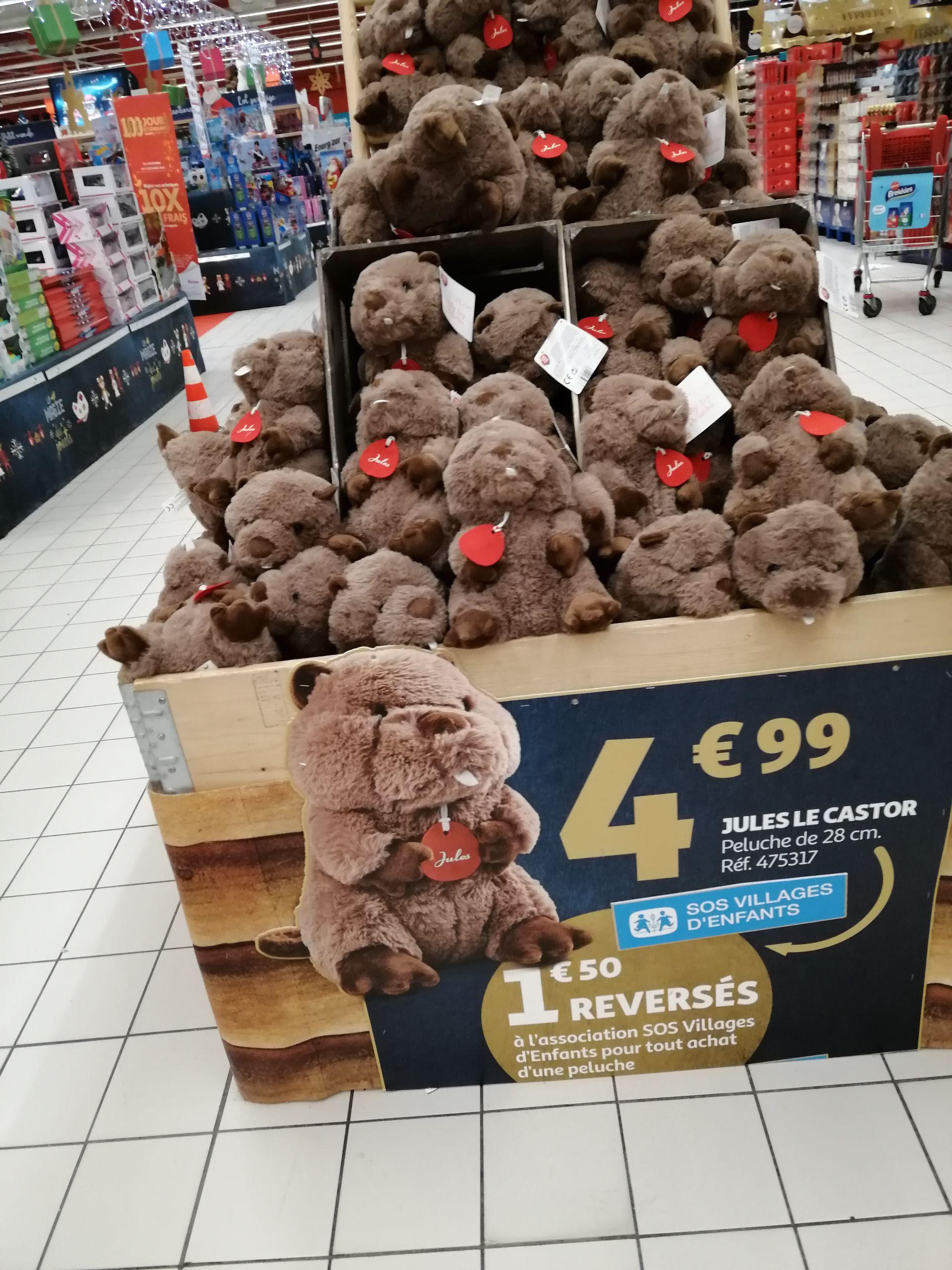 Peluche Jules le Castor - 28 cm (+1,50€ pour l'association SOS village d'enfants)