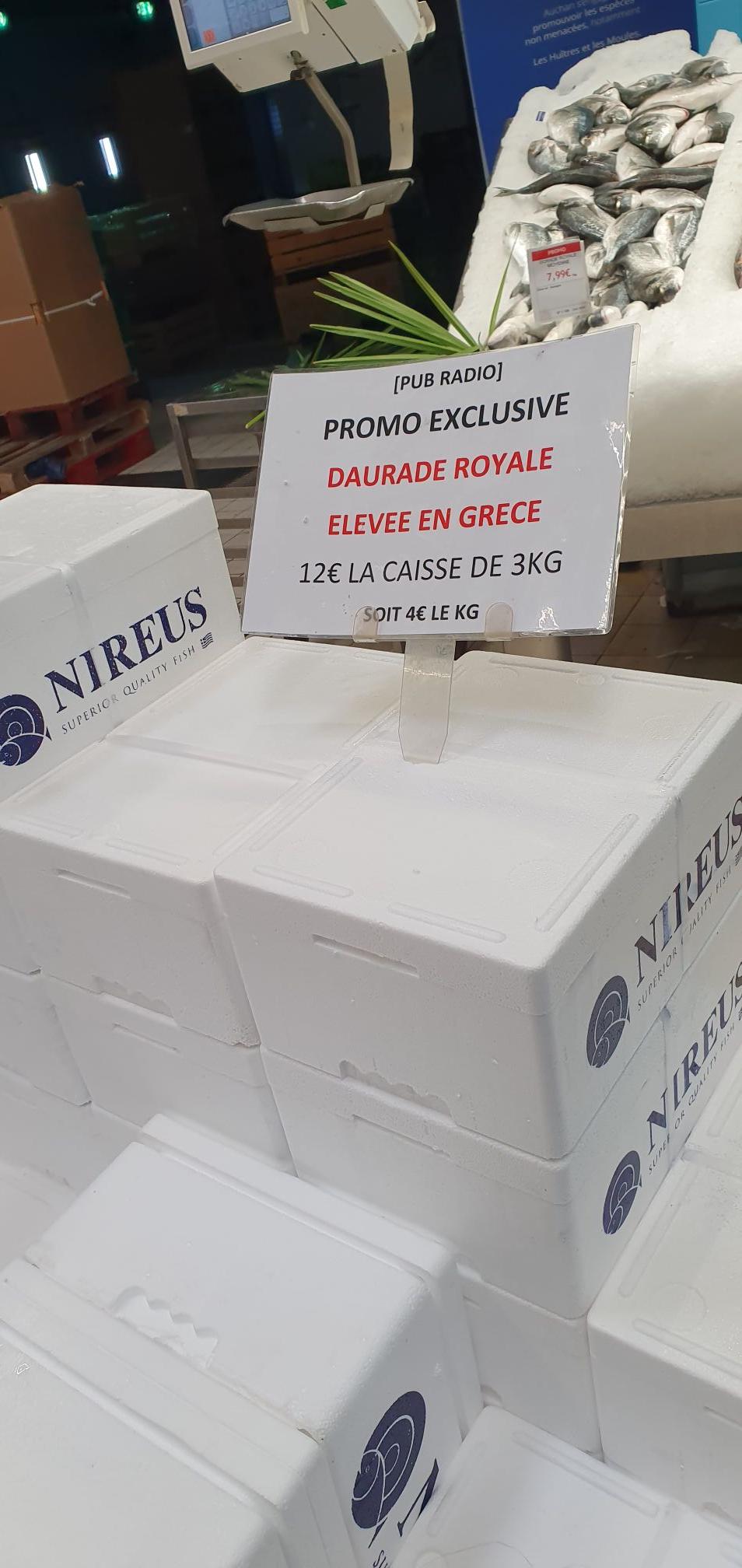 Caisse de 3kg de Dorades Royales d'élevages (Origine Grèce) - Saint-Priest (69)