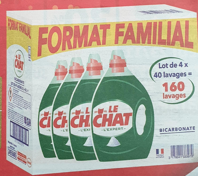 Lot de 4 bidons de lessive Le Chat 2l (24,36€ sur carte de fidélité)