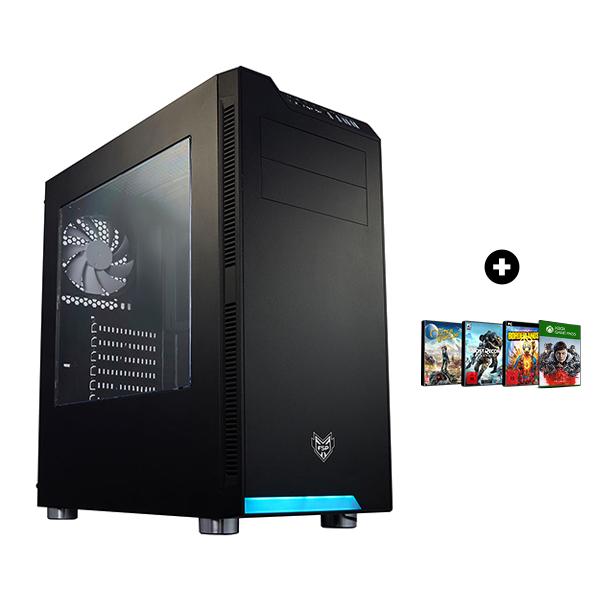 Pc Fixe Gaming Viper - Ryzen 5 3600X, RX 5700 XT OC (8 Go), 16Go RAM (3200mhz), 512 Go SSD NVMe, BeQuiet! 80+ Bronze (600 W) + 3 Jeux PC