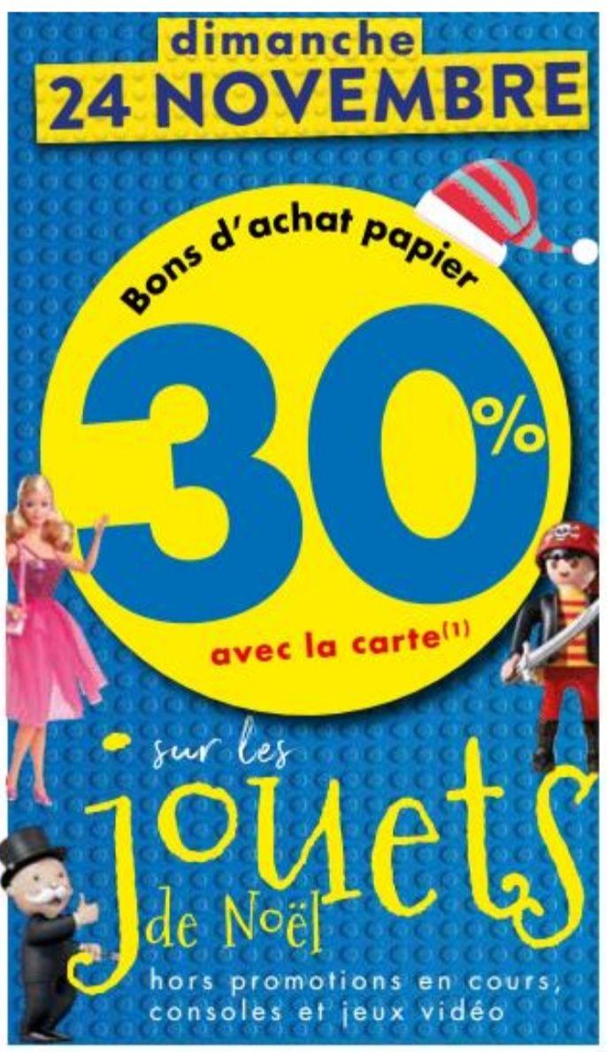 30% offerts en bons d'achat sur les jouets de Noël (Teste-de-Buch 33)
