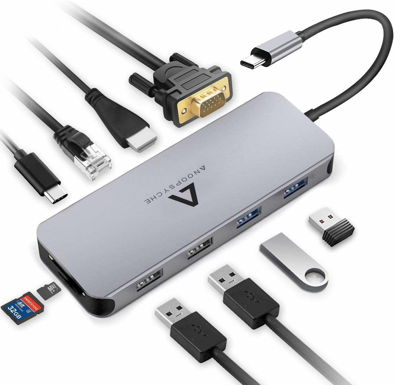 Hub USB C 10-en-1 Anoopsyche (vendeur tiers)