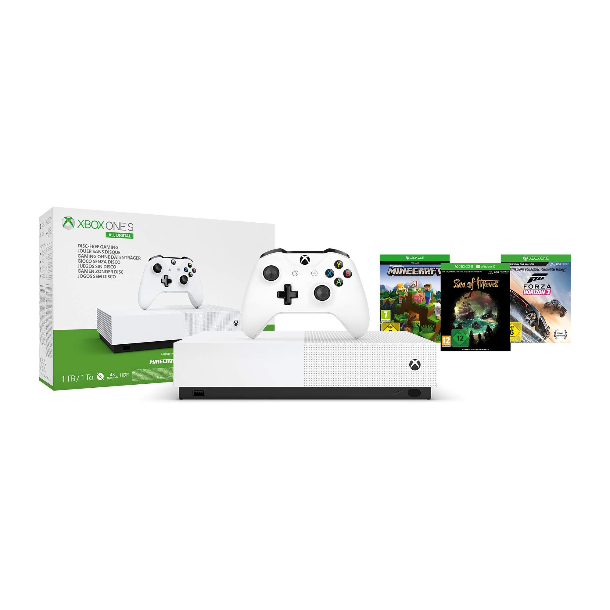 Sélection de packs Xbox One - Ex : Console All Digital (1 To) + Forza Horizon 3 (ou Fortnite) + Minecraft + Sea of Thieves (dématérialisés)