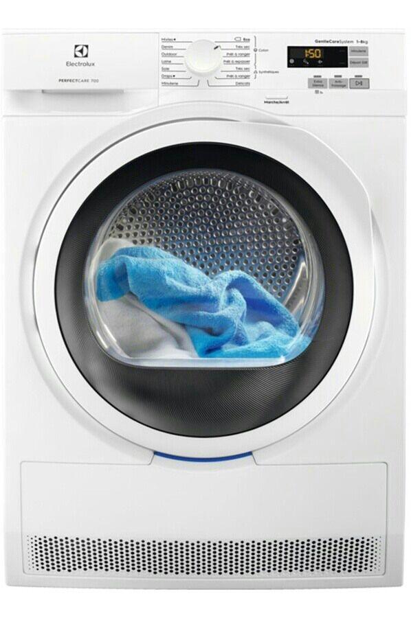 Sèche-linge frontal Electrolux EW7H3252SP - 8 kg, Pompe à chaleur, A+++, Blanc + 45€ en carte cadeau