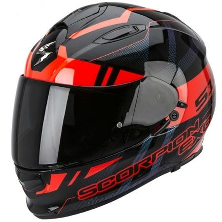 Casque de moto Scorpion EXO-510 AIR noir et rouge