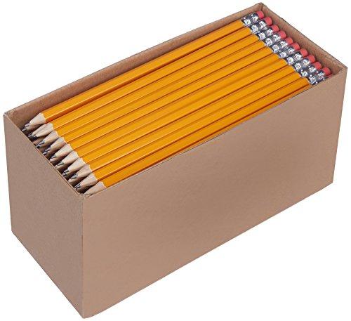 Boîte de 150 crayons à papier prétaillés HB n°2 AmazonBasics
