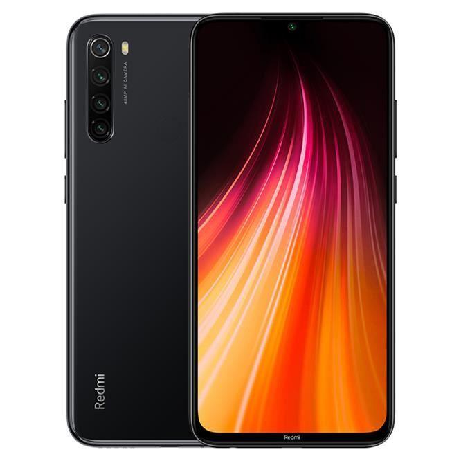 "Smartphone 6.3"" Xiaomi Redmi Note 8 - 4 Go de Ram, 64 Go, Noir (Vendeur Tiers)"