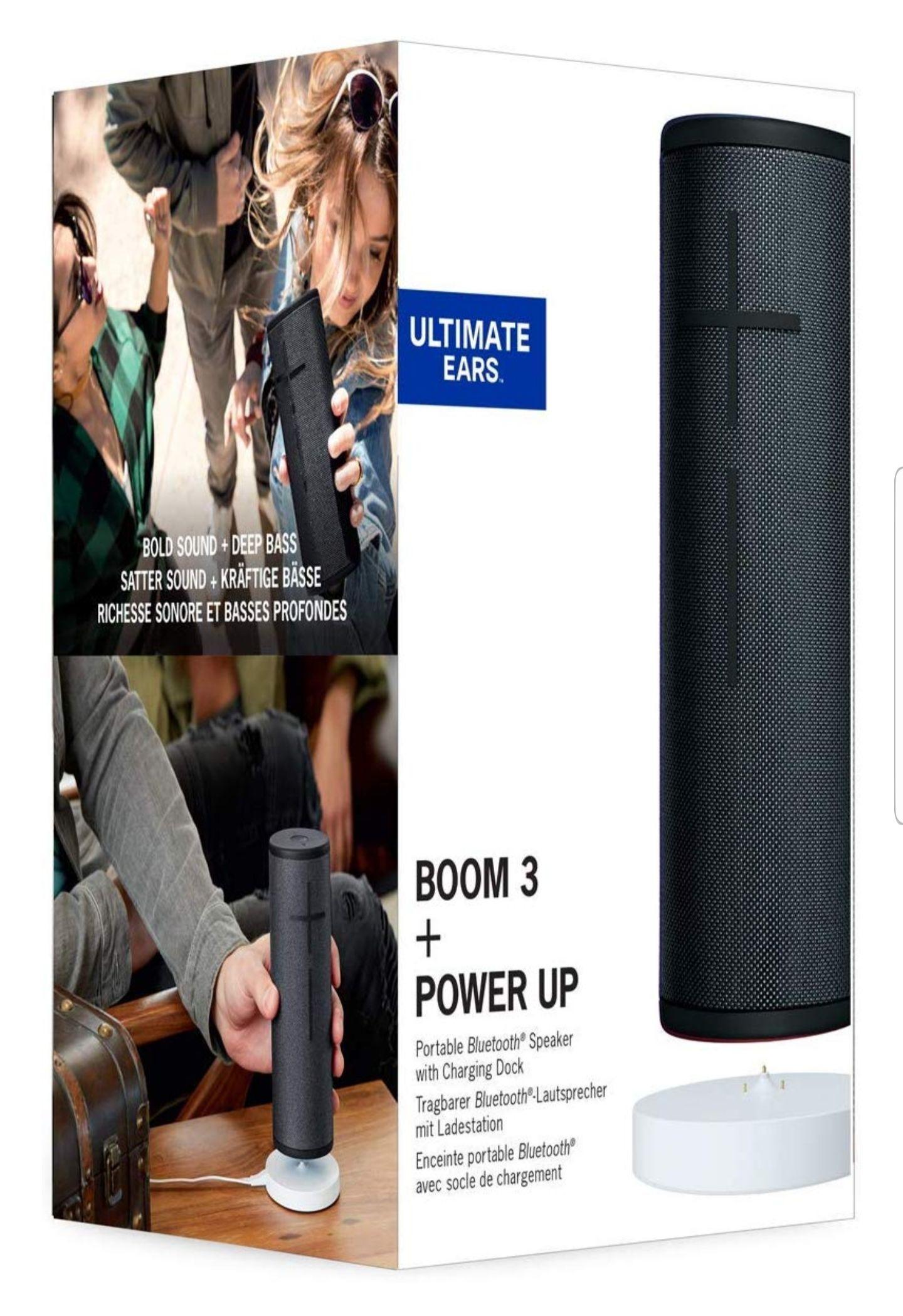 Enceinte portable Ultimate Ears Boom 3 - Bluetooth, Noire + Power UP Socle de Chargement