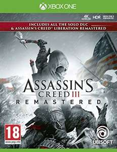 Sélection jeux Ubisoft ex : Assassin's Creed 3 + Assassin's Creed Liberation Remastered sur Xbox One