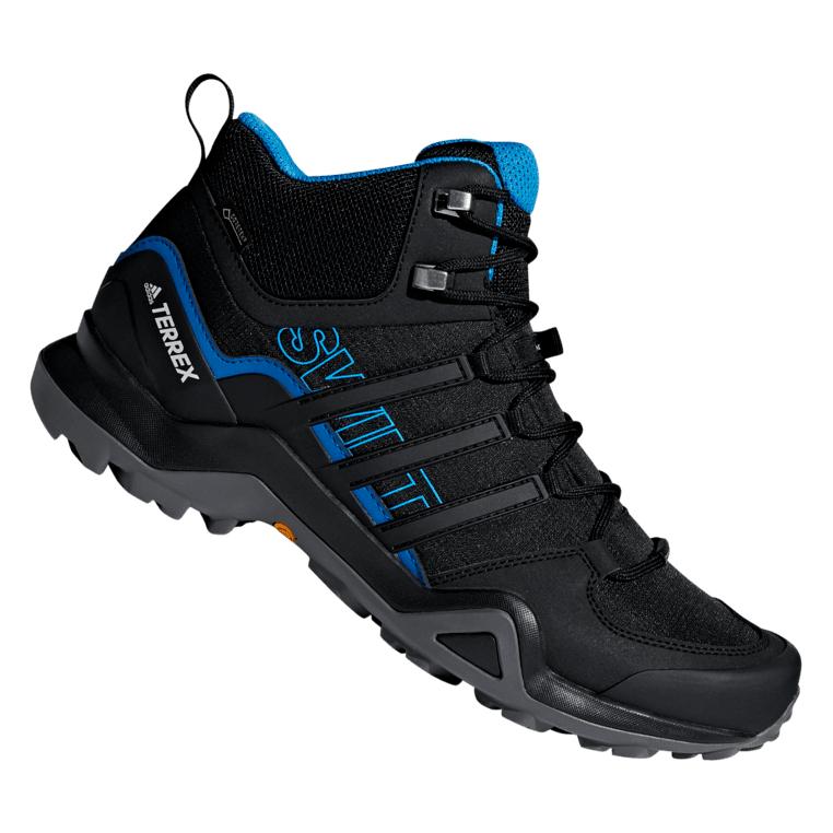 Chaussures de randonnée Adidas Terrex Swift R2 MID GTX - Noir et bleu - Tailles du 41 1/3 au 46