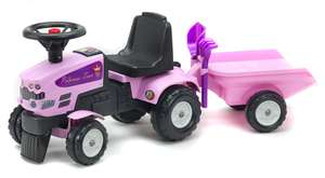 Tracteur enfant Falk Princess Trac + Remorque + accessoires
