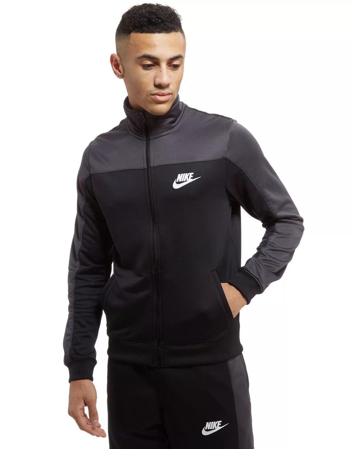 Veste Nike Haut Season Colour Block Poly Track - taille L, noir