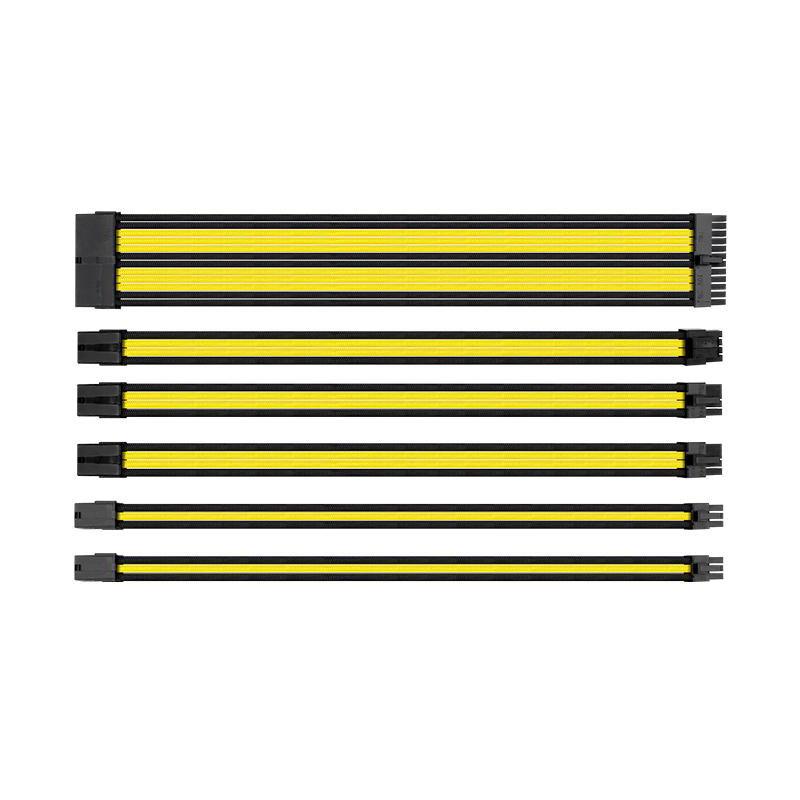 [Clients Privilèges] Câbles extension d'alimentation PC Thermaltake TtMod Sleeve Cable - jaune / noir