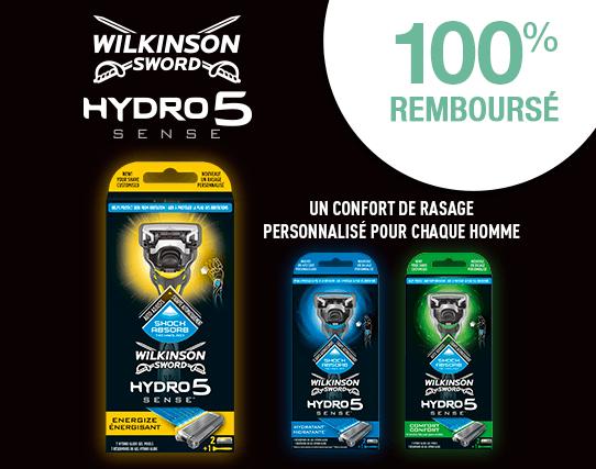 Rasoir Wilkinson Hydro 5 Sense 100% remboursé via ODR (dans la limite de 15€)
